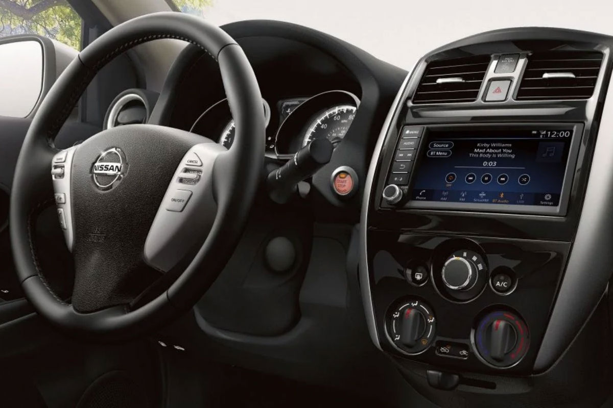 Driver's cockpit of the 2019 Nissan Versa