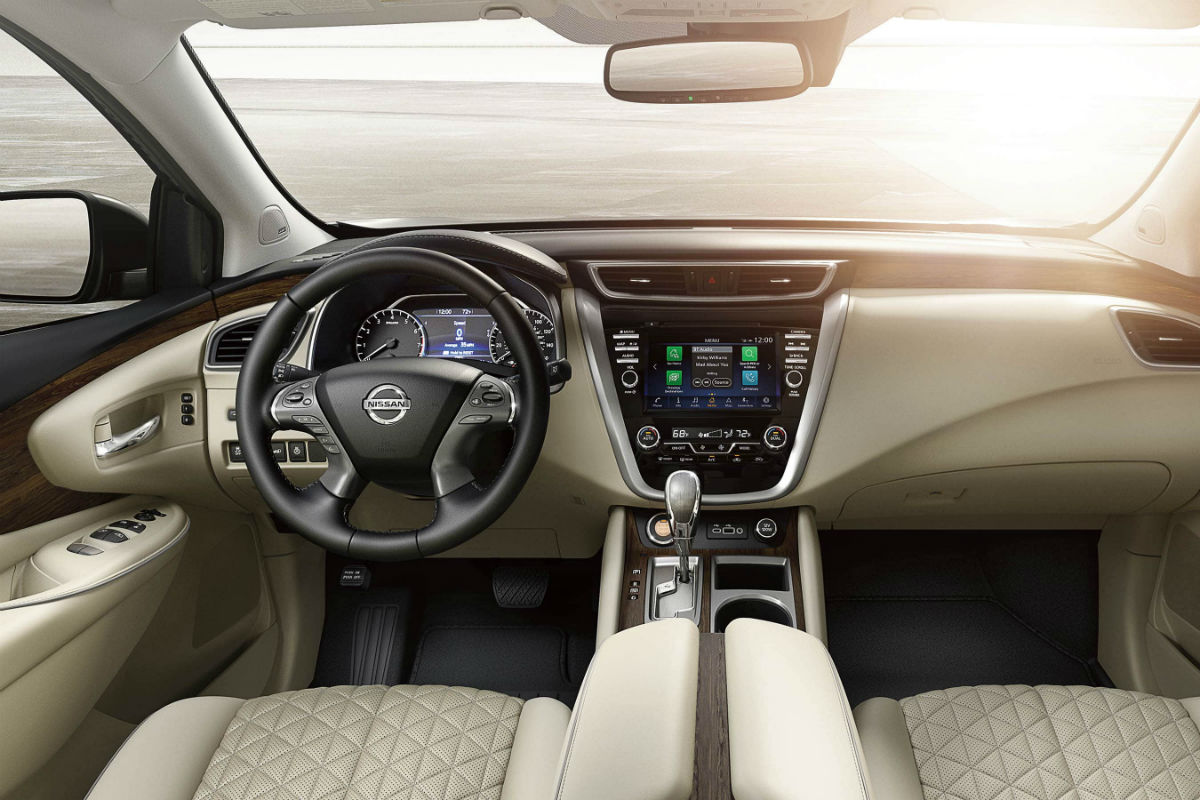 Driver's cockpit of the 2019 Nissan Mirano