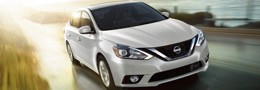 2019 Nissan Sentra driving down a highway