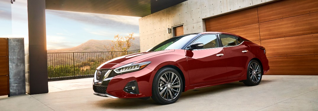2019 Nissan Maxima parked in a driveway