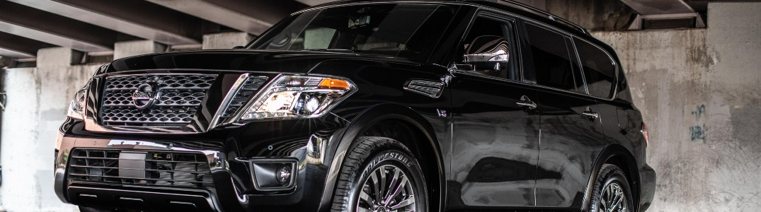 2019 Nissan Armada parked in a parking ramp