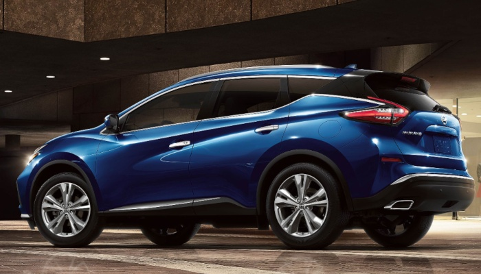 2020 Nissan Murano parked inside a building