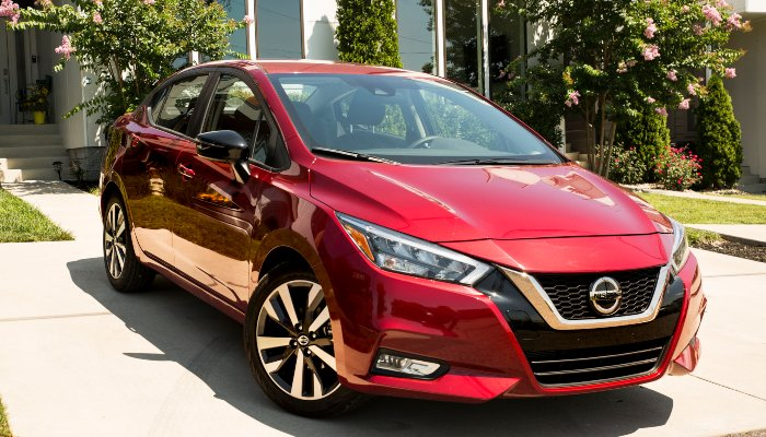 2020 Nissan Versa parked in a driveway