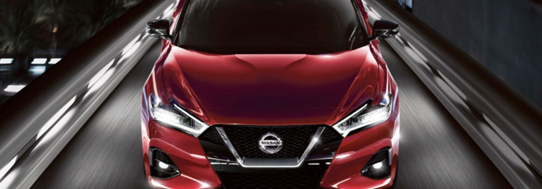 2020 Nissan Maxima front-end close up