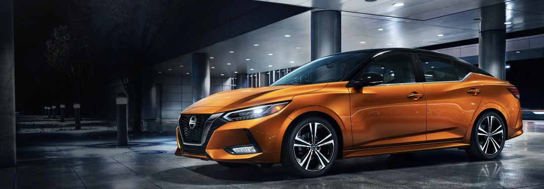 2020 Nissan Sentra parked in the rain