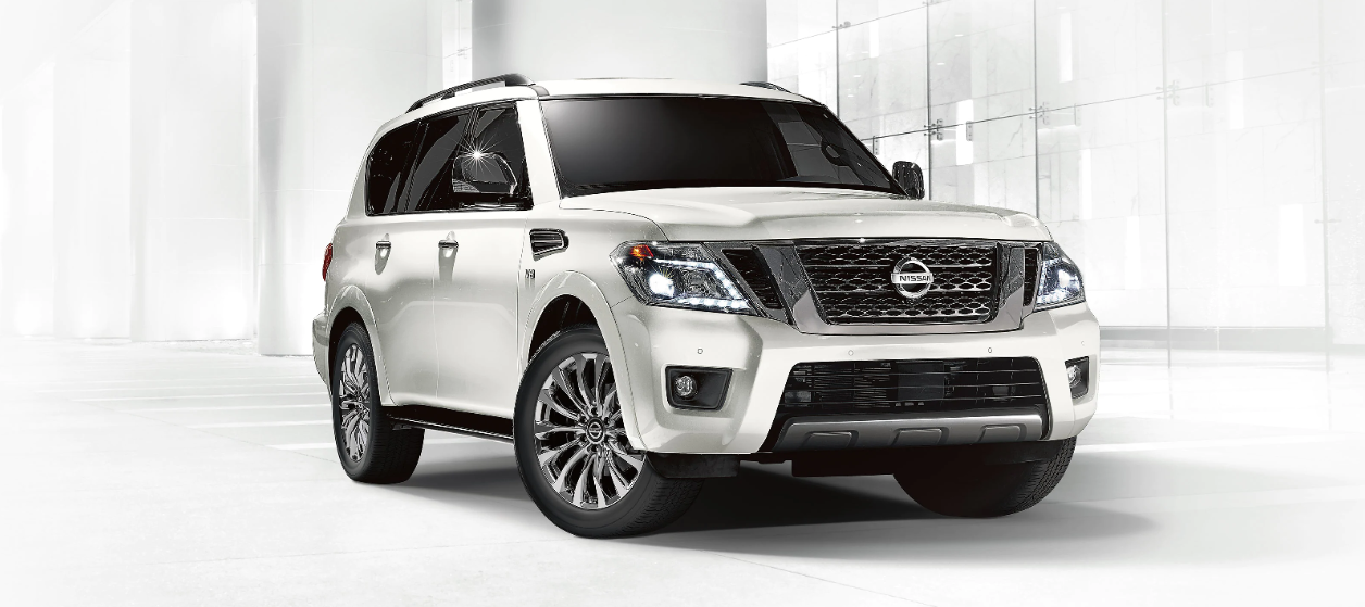 2020 Nissan Armada parked inside of a building