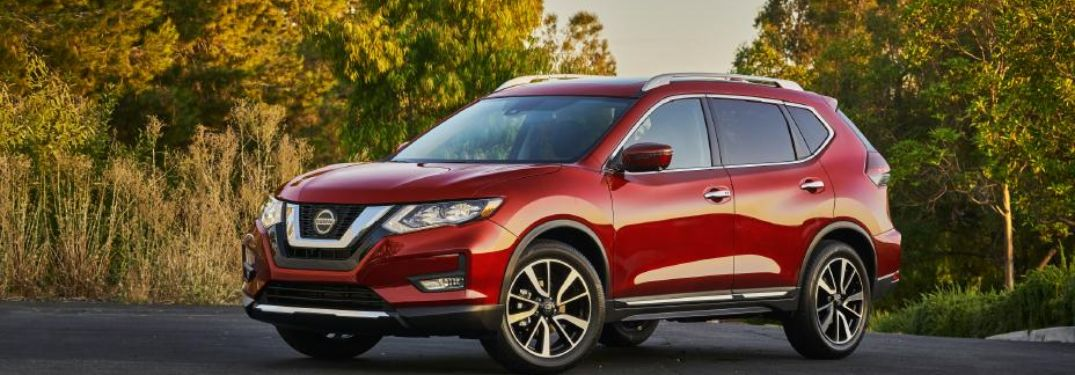 2020 Nissan Rogue parked in a rural lot