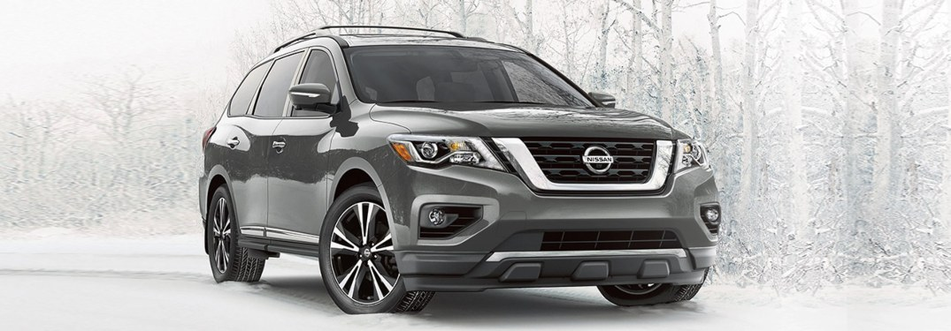 2020 Nissan Pathfinder parked in the snow