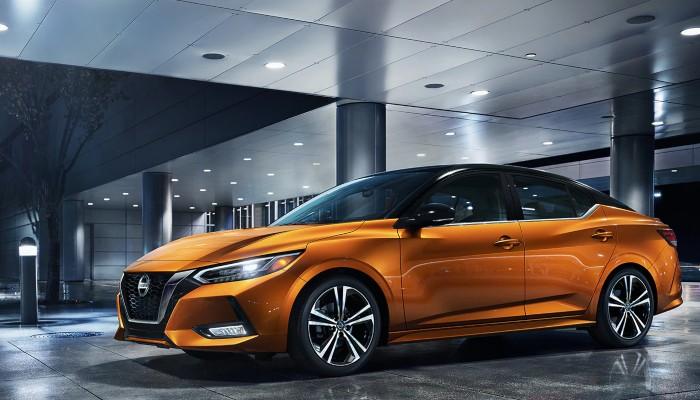 2020 Nissan Sentra parked inside a building