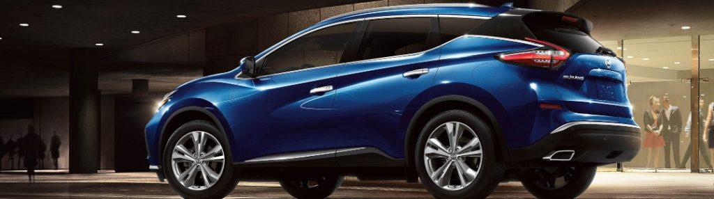 2020 Nissan Murano parked inside of a building