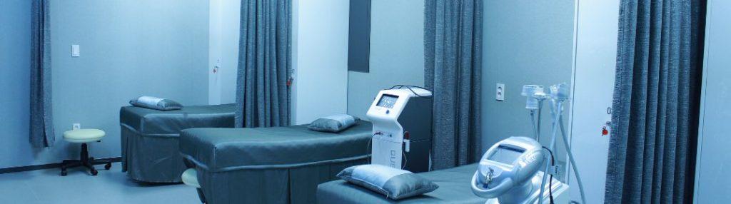 An empty hospital room