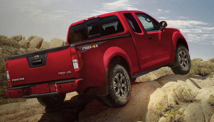 2020 Nissan Frontier driving off-road