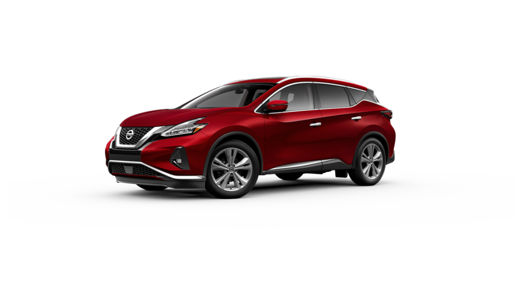 2020 Nissan Murano parked over blank background