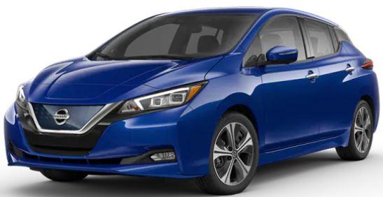 2020 Nissan LEAF Deep Blue Pearl