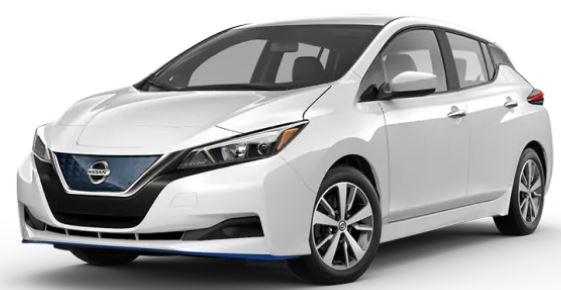 2020 Nissan LEAF Glacier White
