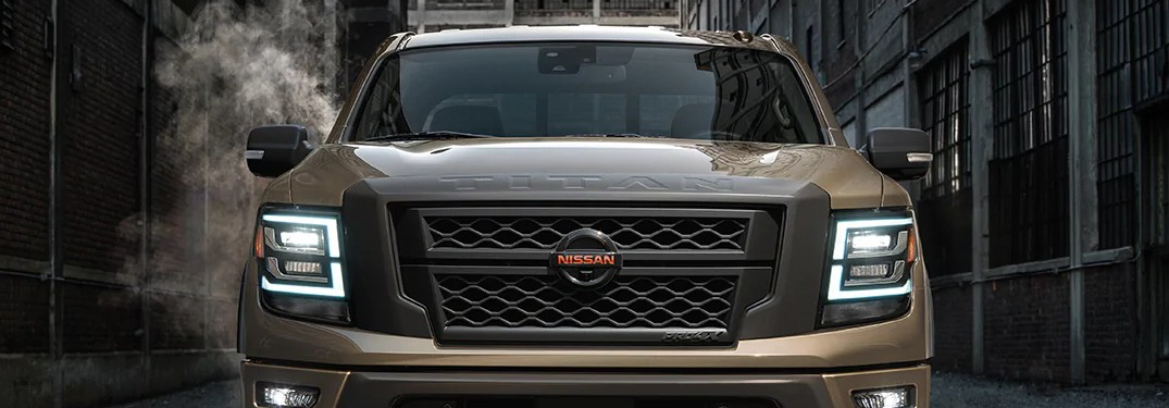 2021 Nissan TITAN from the front