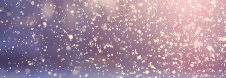 Close up on snow flurries