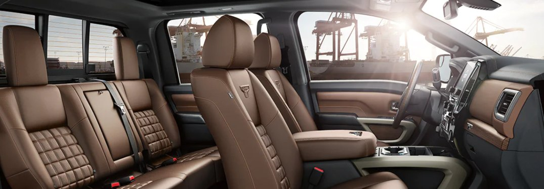 2021 Nissan TITAN interior from the side
