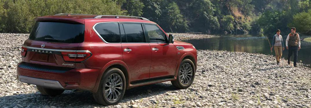 2022 Nissan Armada parked off-road