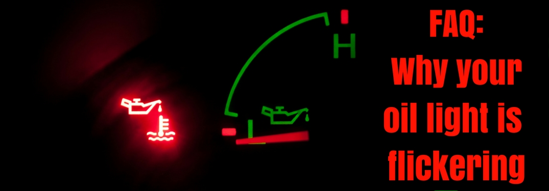 Flickering oil warning light
