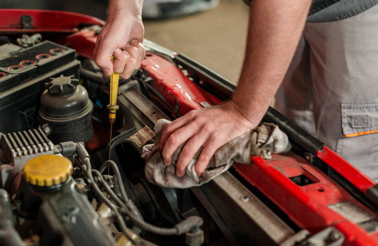How to check engine oil levels