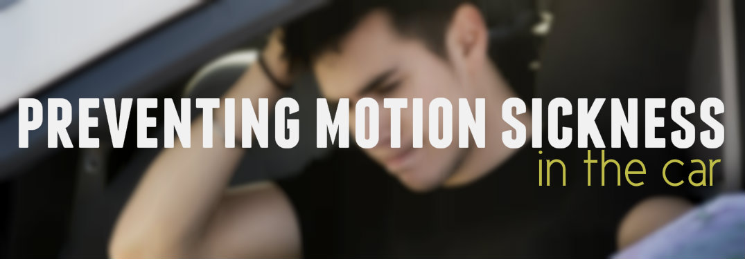 Preventing motion sickness in the car