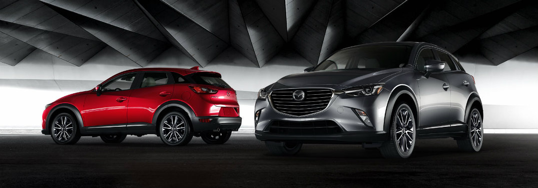 Two-2018-Mazda-CX-3-models-in-dark-garage