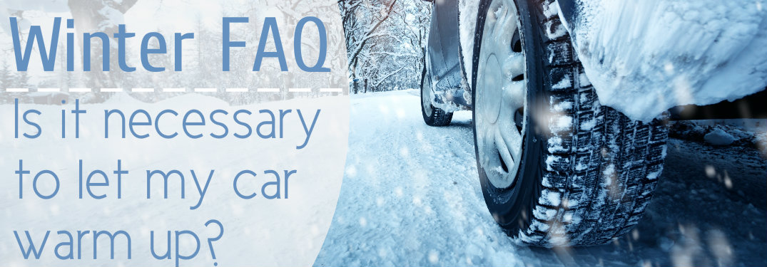 Close-up-of-cars-tires-on-snow-with-text-overlay-saying-Winter-FAQ-is-it-necessary-to-let-my-car-warm-up