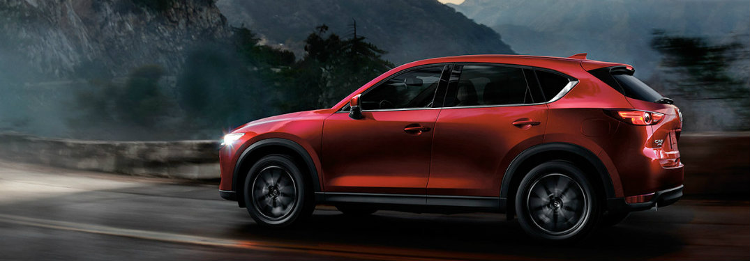 Red-2018-Mazda-CX-5-driving-at-night