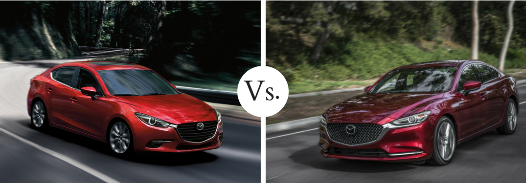 What is the difference between the 2018 Mazda3 and 2018 Mazda6?