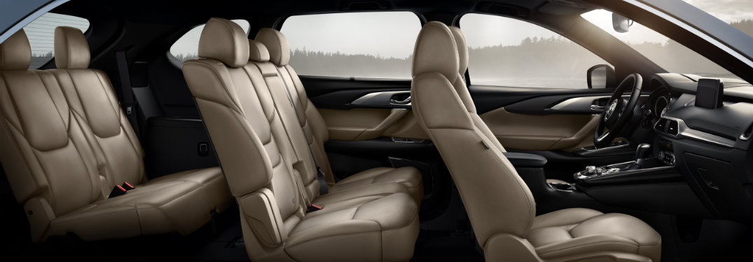 side view of seats inside mazda cx-9