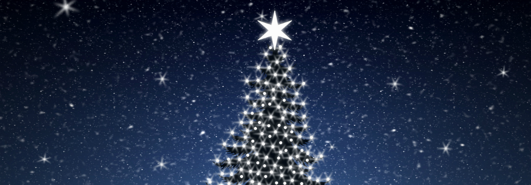animated christmas tree with star on top