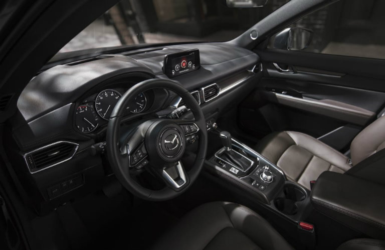 mazda cx-5 signature steering wheel and front seats