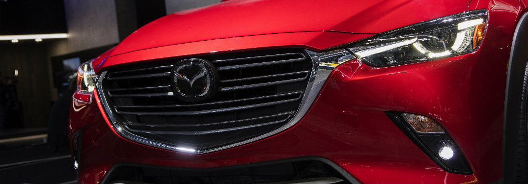 red mazda cx-3 grille close up