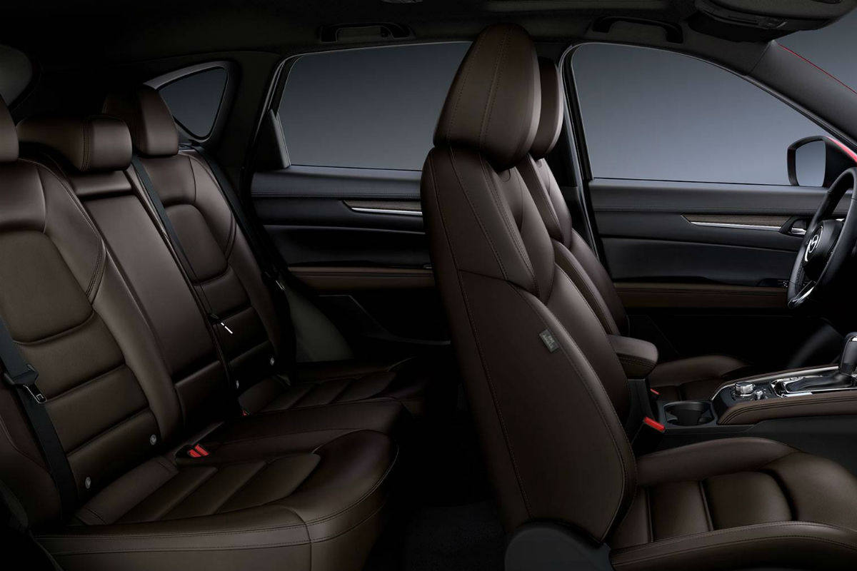 Side view of the two rows of interior seating in the 2019 Mazda CX-5