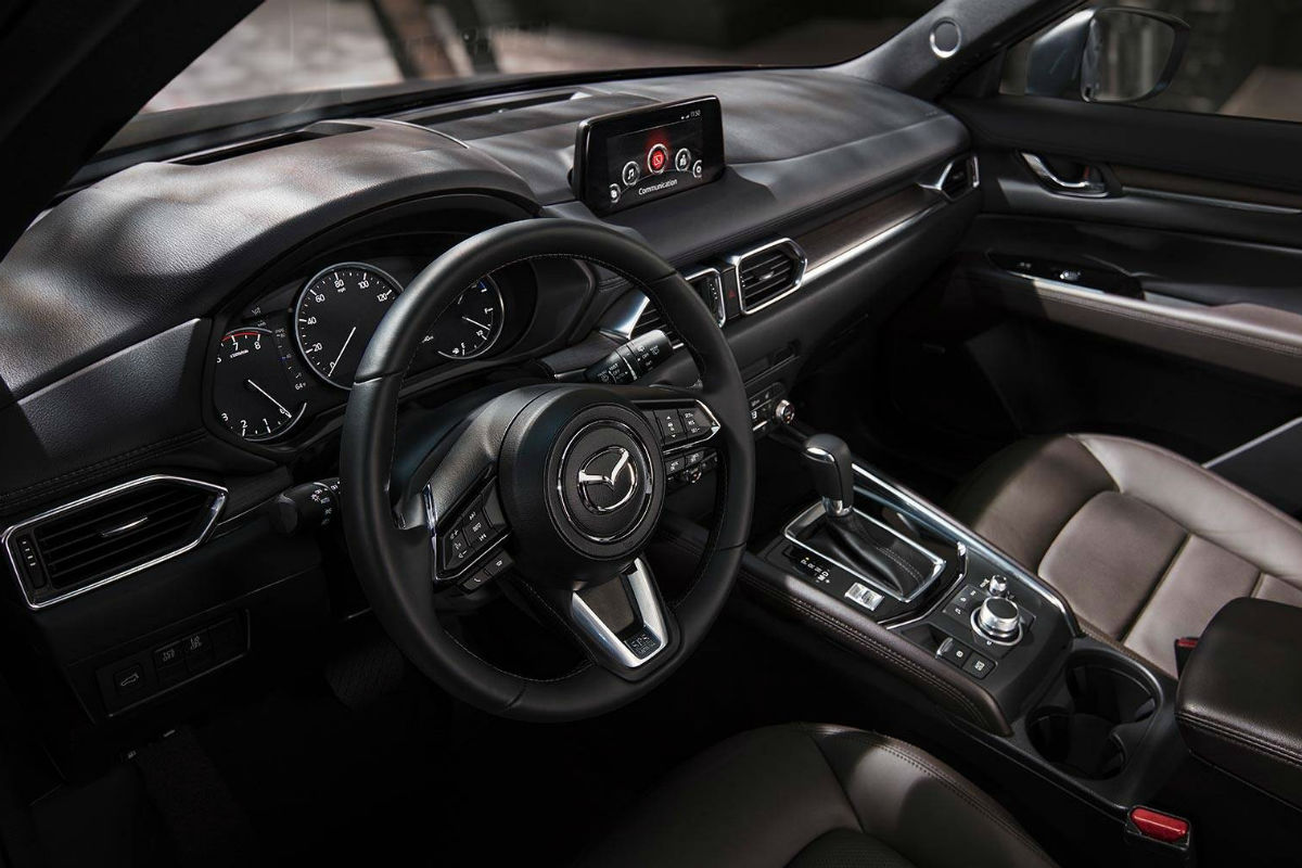 Overhead view of the driver's cockpit of the 2019 Mazda CX-5