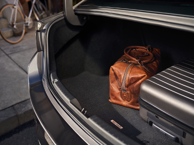2019 Mazda3 trunk with optional carpeting