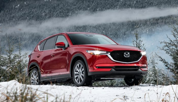 2019 Mazda CX-5 parked on a snowy hill