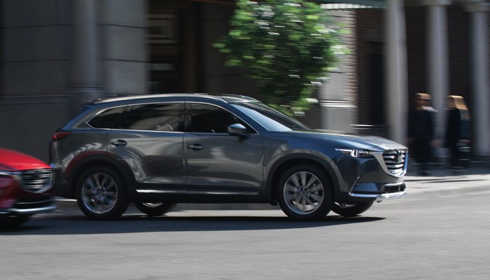 2019 Mazda CX-9 driving in a city