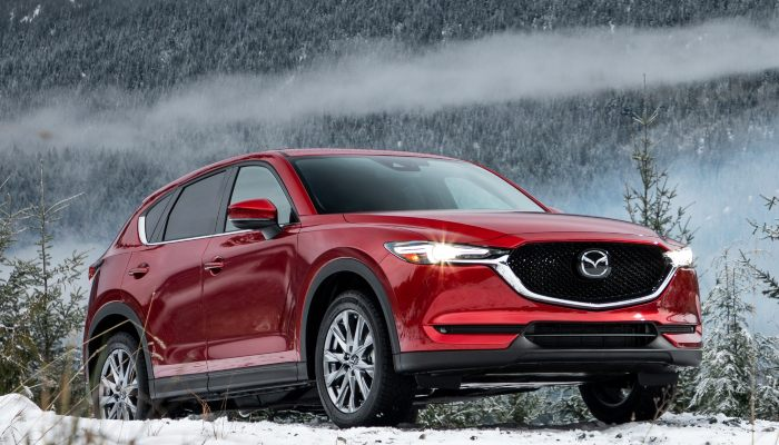 2019 Mazda CX-5 parked on a hill