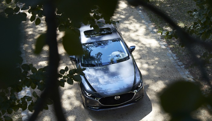 2019 Mazda3 parked from above