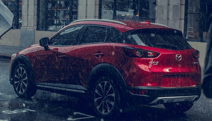 2019 Mazda CX-3 parked in the rain