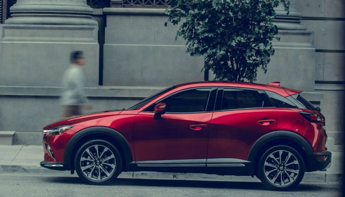2019 Mazda CX-3 parked on a city street