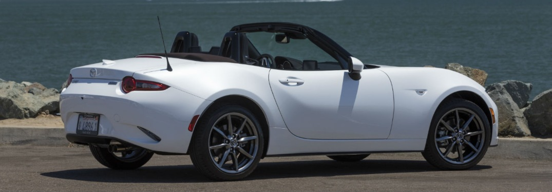 2019 Mazda MX-5 Miata parked by the beach