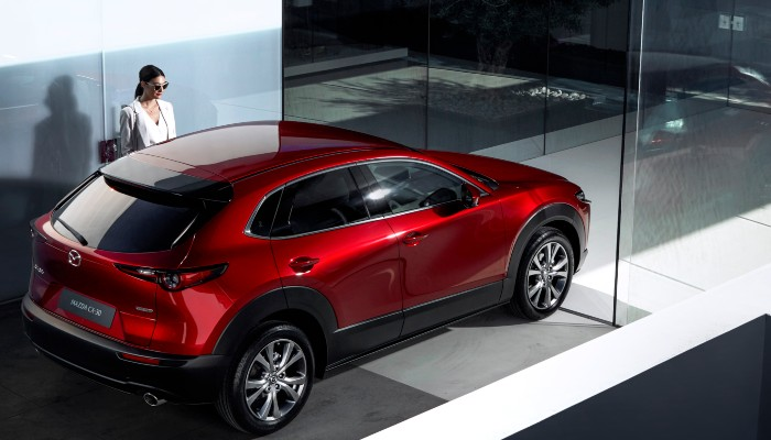 2020 Mazda CX-30 parked in a building