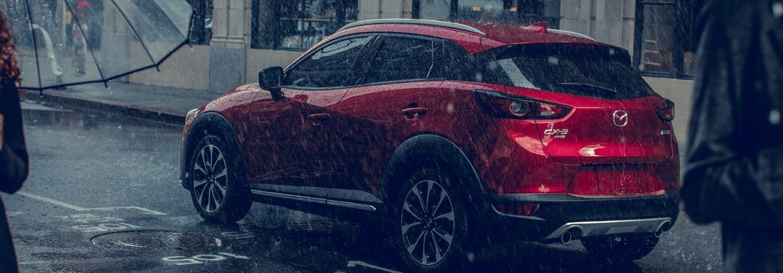 2019 Mazda CX-3 parked in the rain