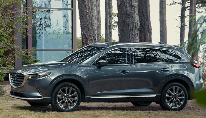 2020 Mazda CX-9 Sport parked in the woods