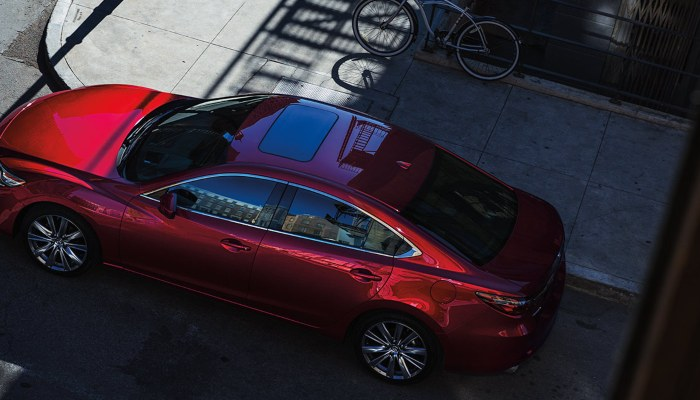 2020 Mazda6 driving down a city street