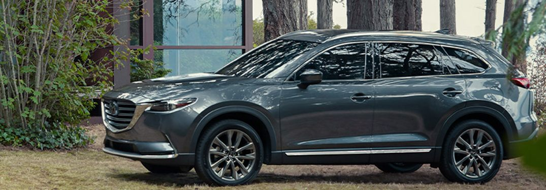 2020 Mazda CX-9 parked in front of a building