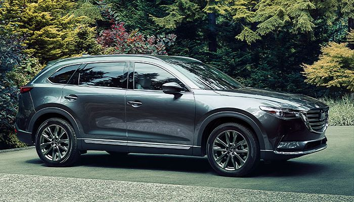 2020 Mazda CX-9 parked in a lot in the forest